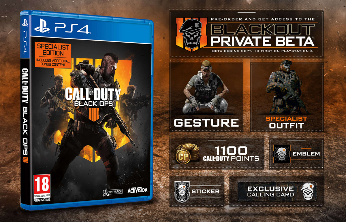 Call of Duty: Black Ops 4 – Specialist Edition