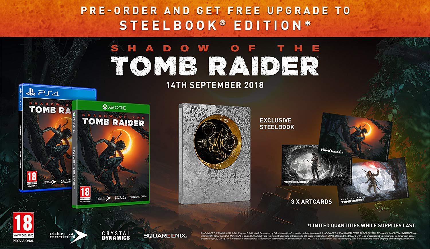 Коллекционное издание Shadow of the Tomb Raider - Croft Steelbook Edition
