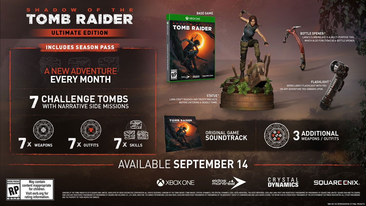 Коллекционное издание Shadow of the Tomb Raider - Ultimate Edition