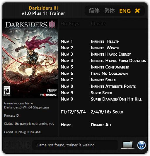 Darksiders 3 FLiNG Trainer