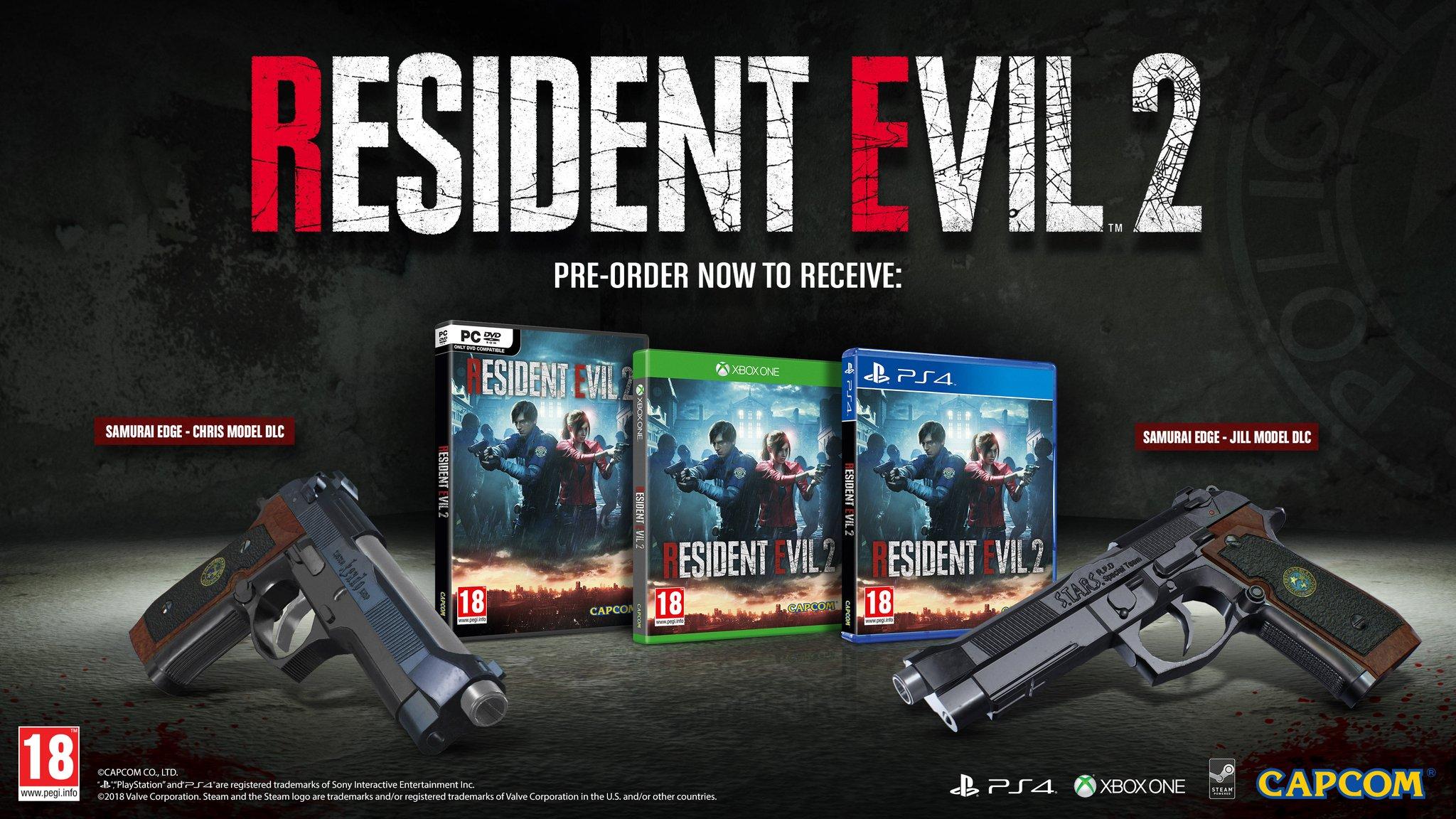 Resident Evil 2 Remake: бонусы за предзаказ