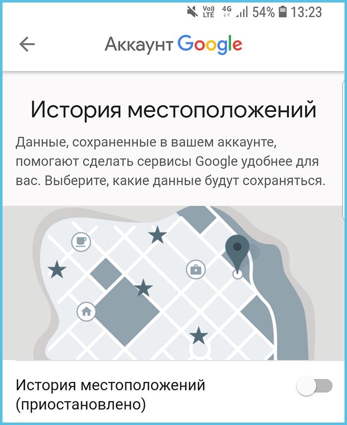 История местоположений