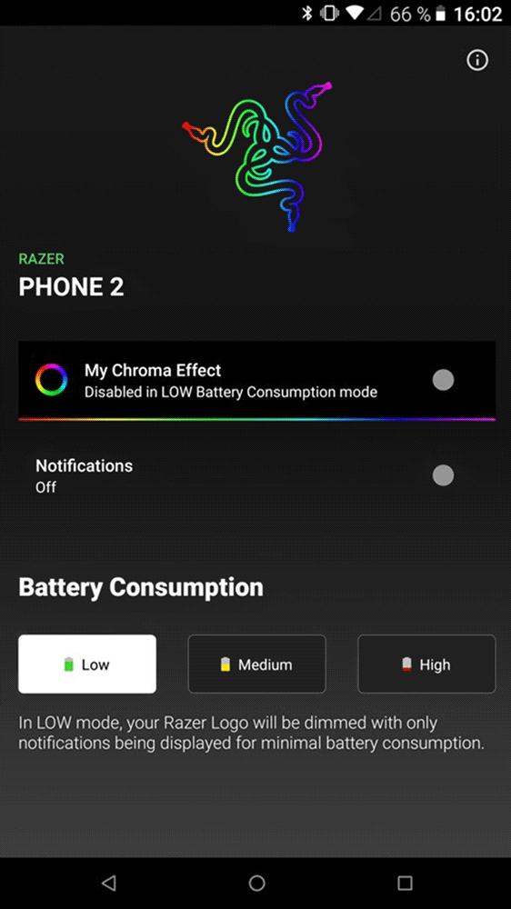 Razer Phone 2: настройка подсветки