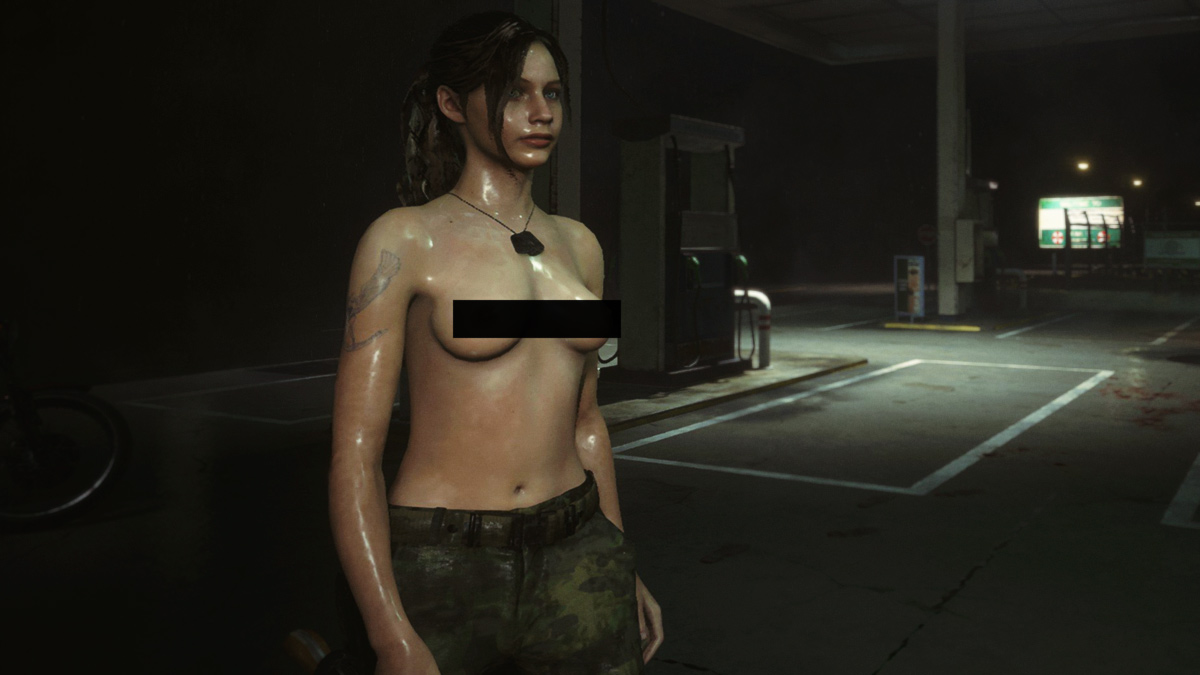 Topless Claire