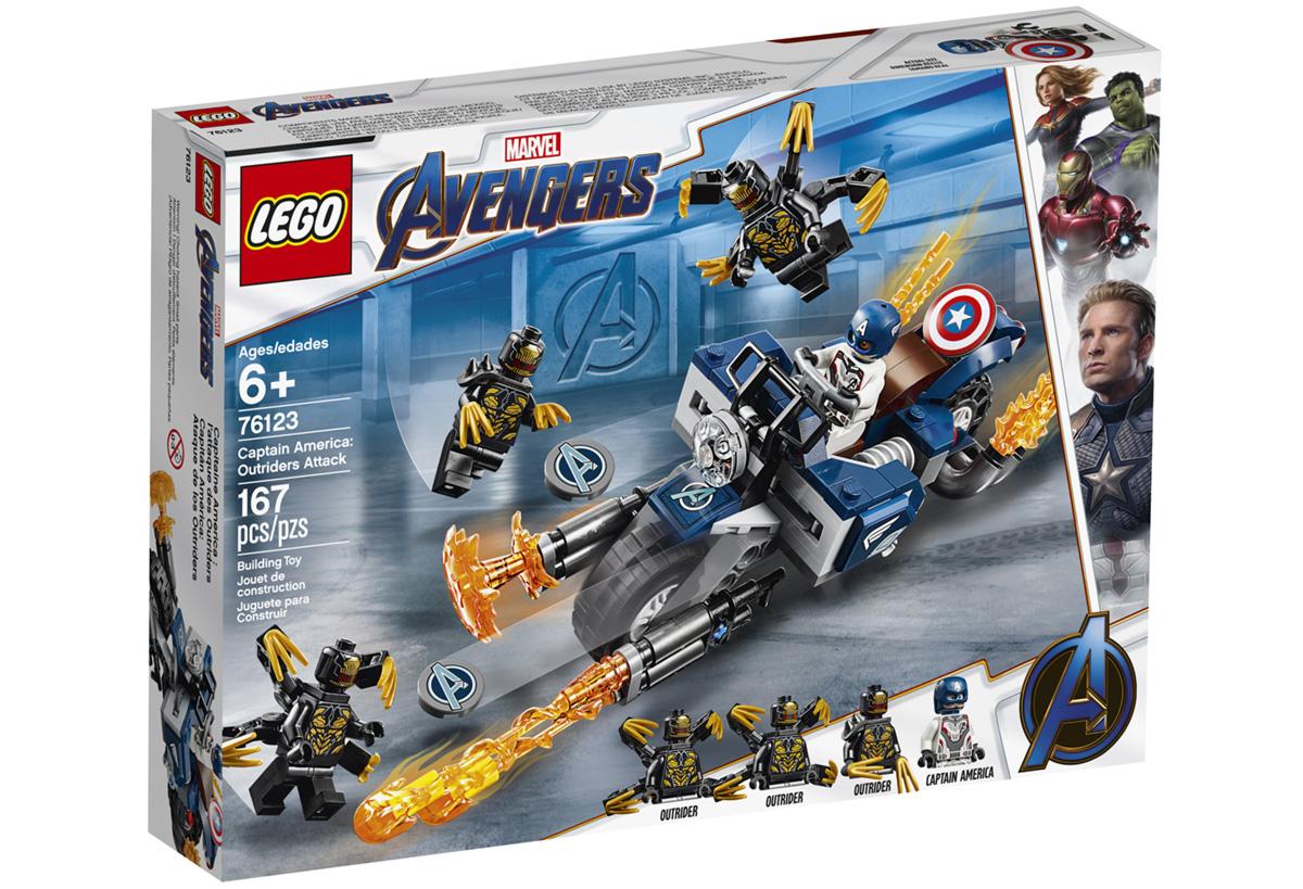 Набор LEGO 76123: Капитан Америка - Атака Аутрайдеров