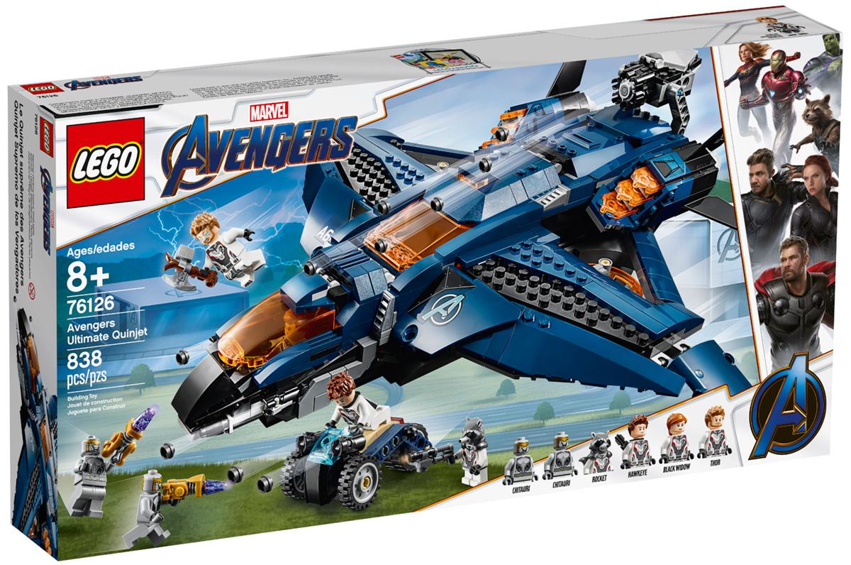 Набор LEGO 76126: Модернизированный квинджет Мстителей