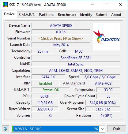 SSD-Z Adata SP900