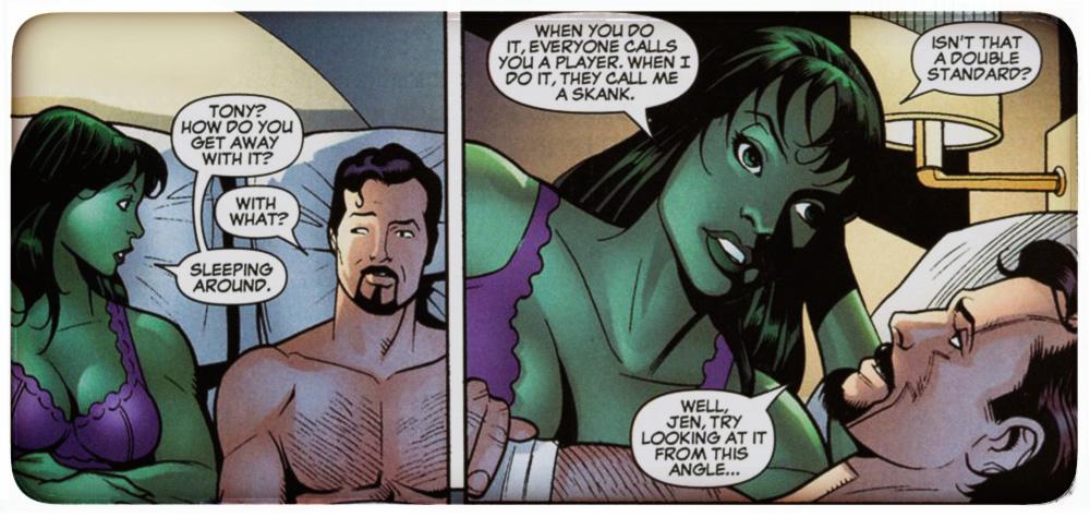 Женщина-Халк и Тони Старк