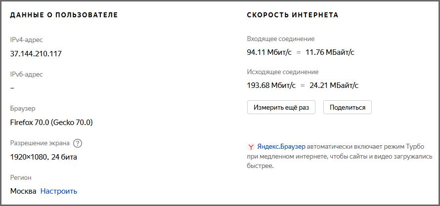 """Яндекс.Интернетометр"""