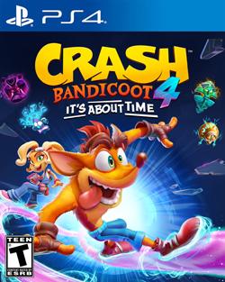 Crash Bandicoot 4 (PS4 Box Cover)