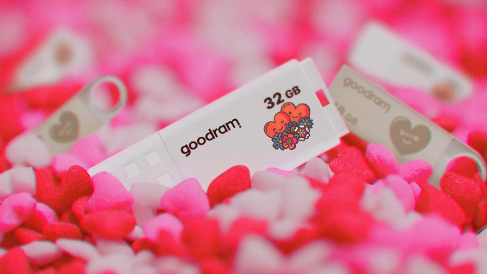 GOODRAM выпустила ограниченную серию флешек ко дню Святого Валентина