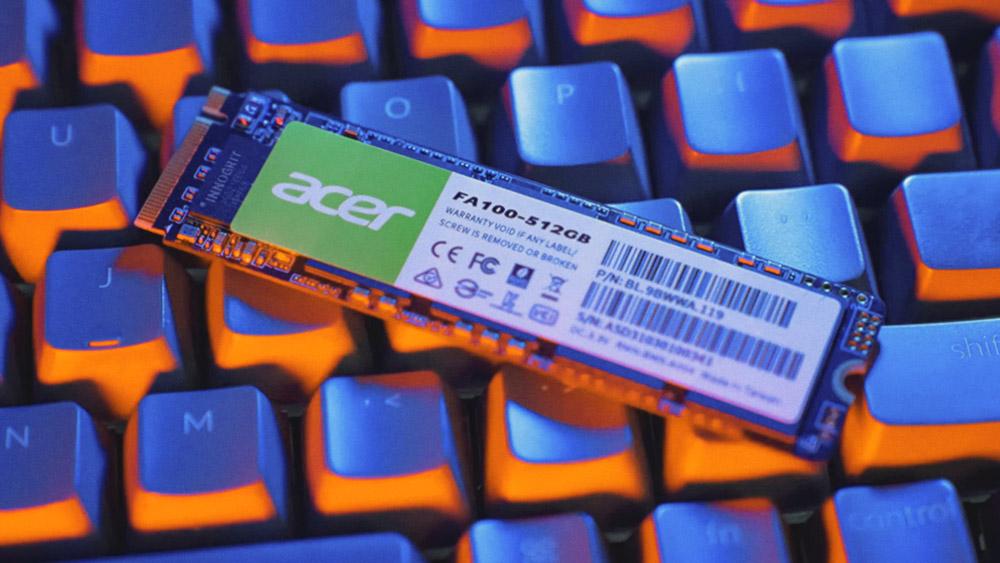 Acer начнет продавать SSD-накопители и оперативную память